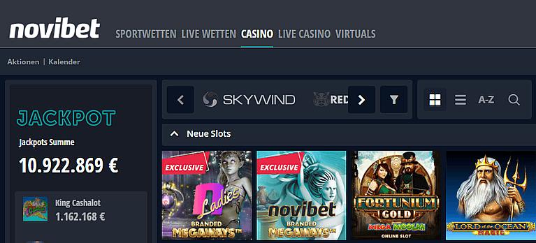 Novibet Casino Spiele