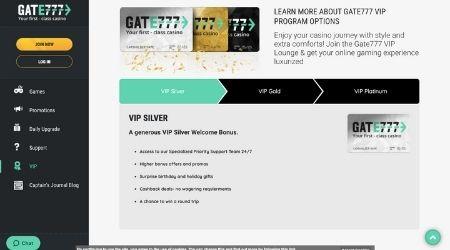 Gate 777 VIP Welcome Bonus