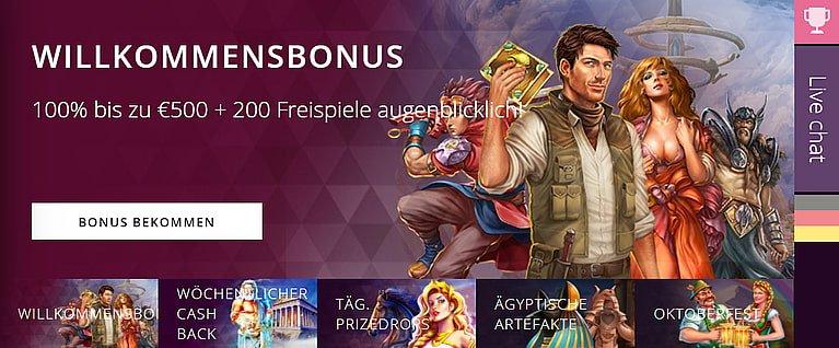Malina Casino Bonus für Neukunden