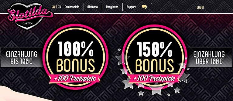 Slotilda Casino Bonus für Neukunden