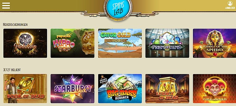 SpinsLab Slot Spiele