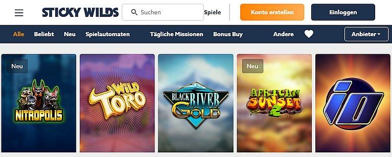 StickyWilds Spiele