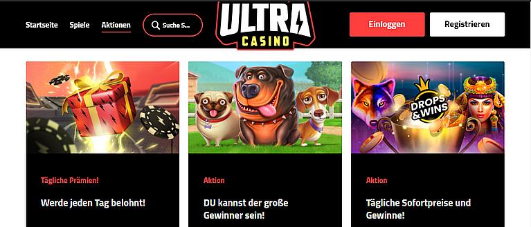 Ultra Casino Bonus für Neukunden