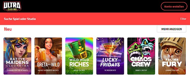 Ultra Casino Spiele