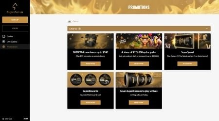 SuperSeven Casino Promotions