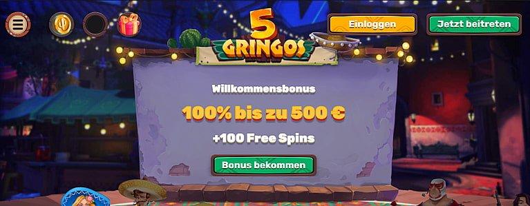 5Gringos Bonus