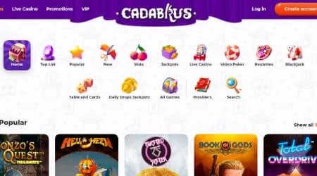 Cadabrus casino games selection