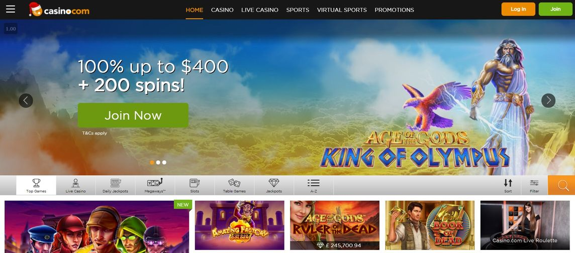 Casino.com 賭場