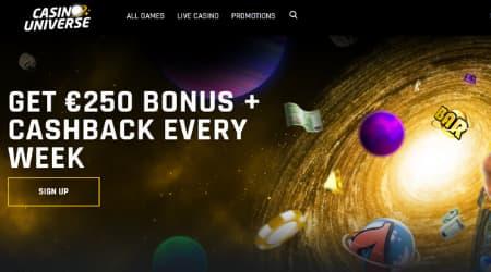 CasinoUniverse Homepage