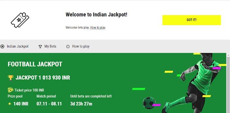 Indian Jackpot Parimatch