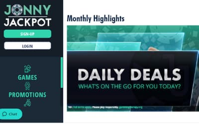 Jonny Jackpot Casino promotions & Daily Deals