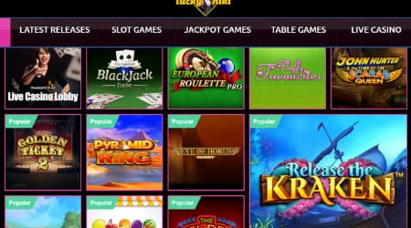 LuckyNiki Game Selection