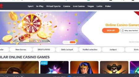 NetBet Casino Homepage