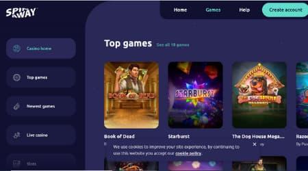 SpinAway Casino games