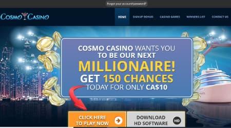 Cosmo Casino Homepage Canada