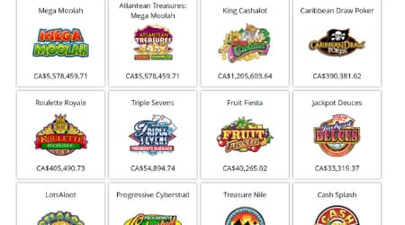 Cosmo casino games selection