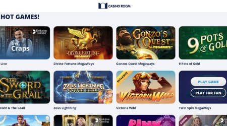 Casino Room game selection