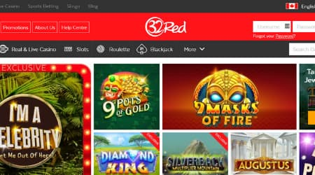 32Red casino game selection