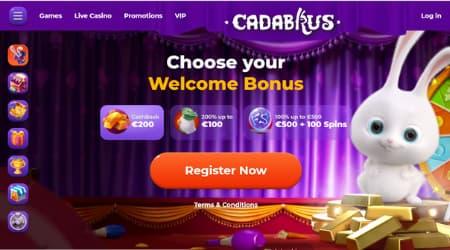 Cadabrus casino homepage