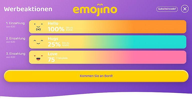 Emojino Bonus Code für Neukunden
