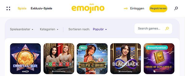 Emojino Slot Spiele
