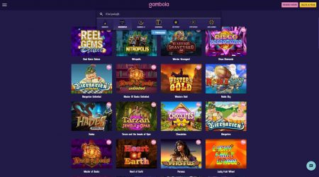 Gambola casino pelien valinta