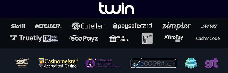 Twin Zahlungsmethoden