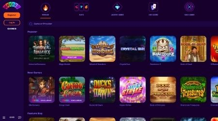 Wheelz online casino games