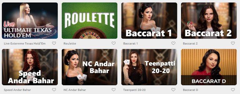 Cadoola casino india live casino