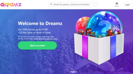 Dreamz casino welcome offer