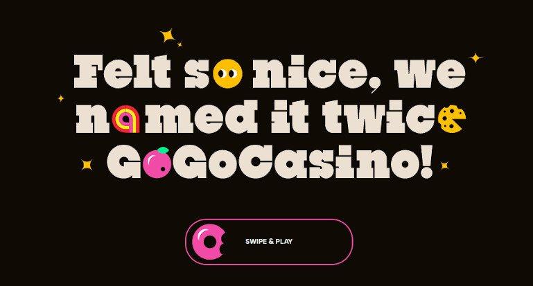 GoGo Casino India Homepage Screenshot