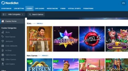 NordicBet online casino games