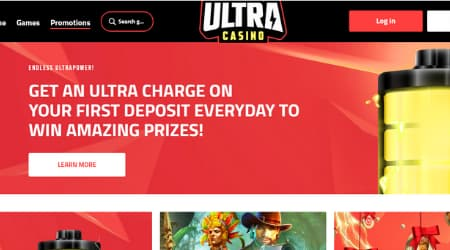 Ultra Casino online promotions