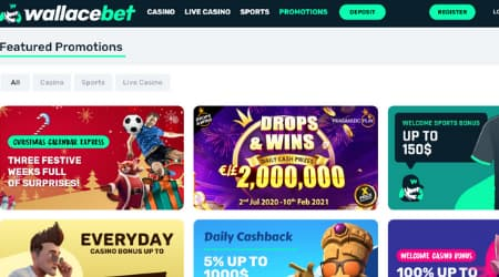 Wallace Bet online casino promotions
