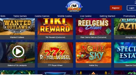 All Slots Casino online games