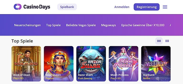 Days Slot Spiele