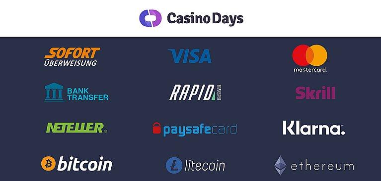 Days Zahlungsmethoden