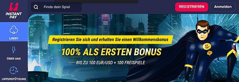 InstantPay Bonus für Neukunden