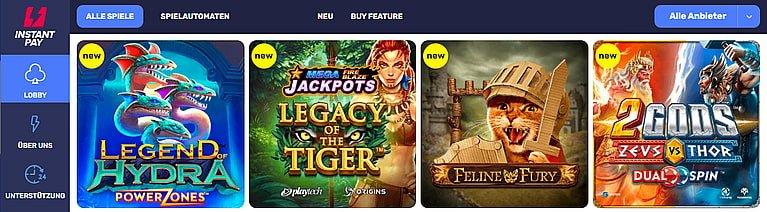 InstantPay Spiele und Slots