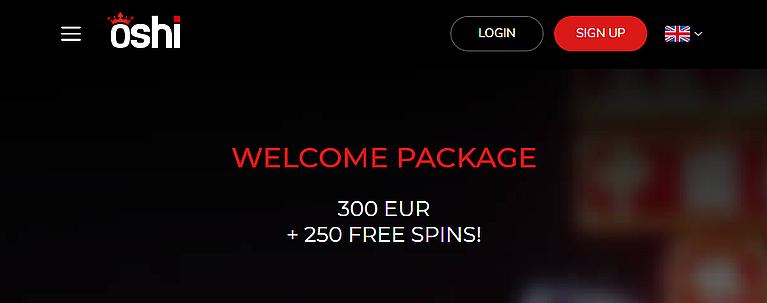 Oshi Bonus & Freispiele