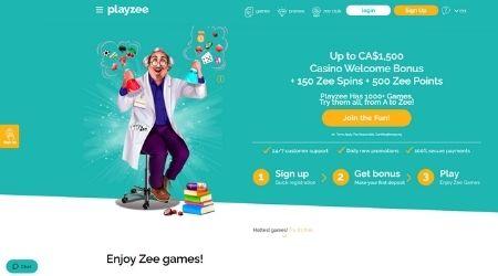 Playzee Welcome bonus