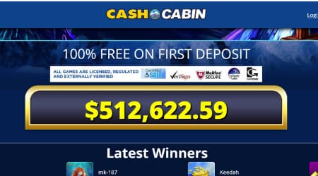 Cash Cabin Welcome offer