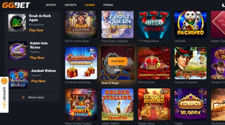 GG.bet online casino games