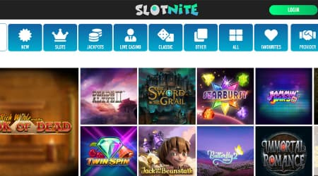 Slotnite online casino games