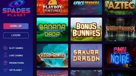 Spades Planet online casino games