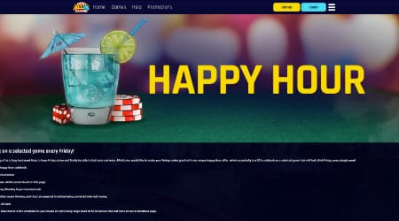 Allin Casino Happy Hour promotions