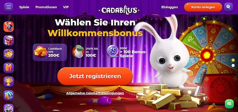 Cadabrus Bonus bis 500€