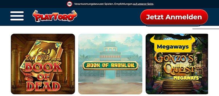 PlayToro Slot Spiele