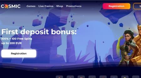 CosmicSlot Welcome bonus