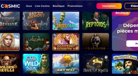 CosmicSlot game selection